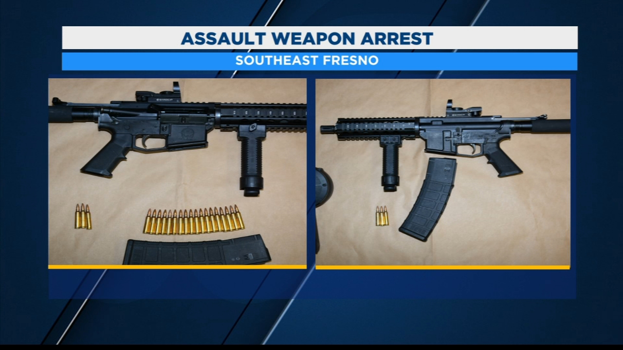 Man arrested for having assault rifles
