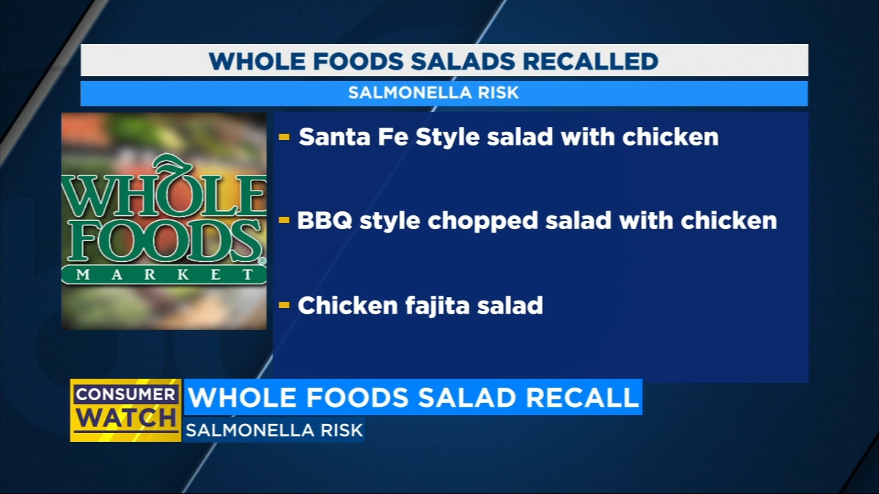 Whole Foods recalls fresh salads