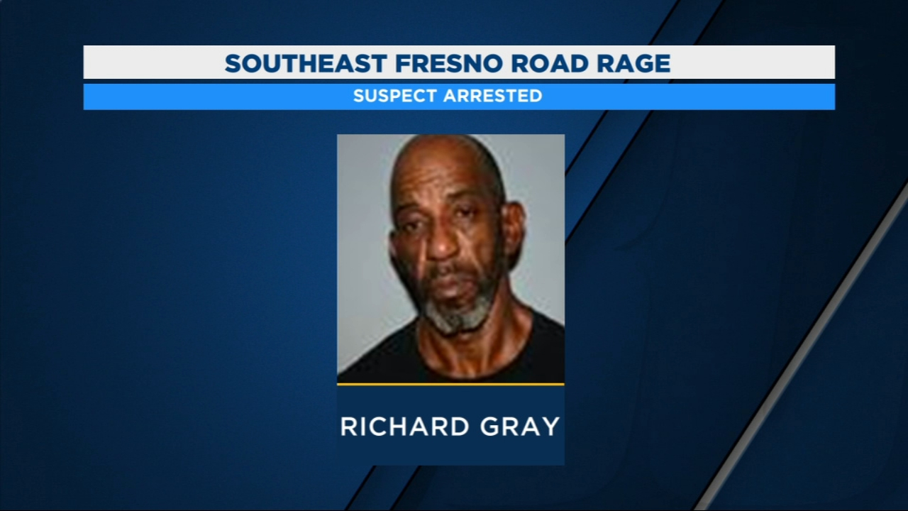 Fresno Police arrested 57-year-old Richard Gray for threatening to shoot a man in a road rage incident.