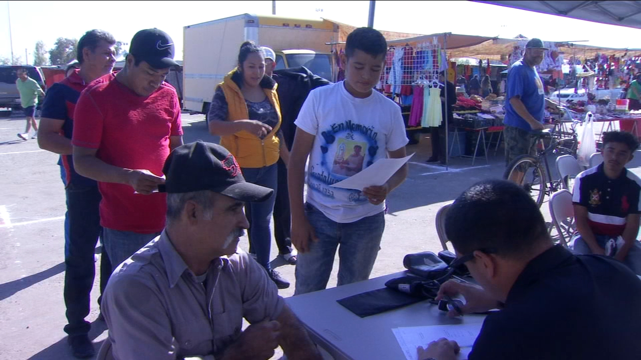 The event called Health on Wheels took place at the Fresno Fairgrounds from 7 a.m. to 2 p.m.
