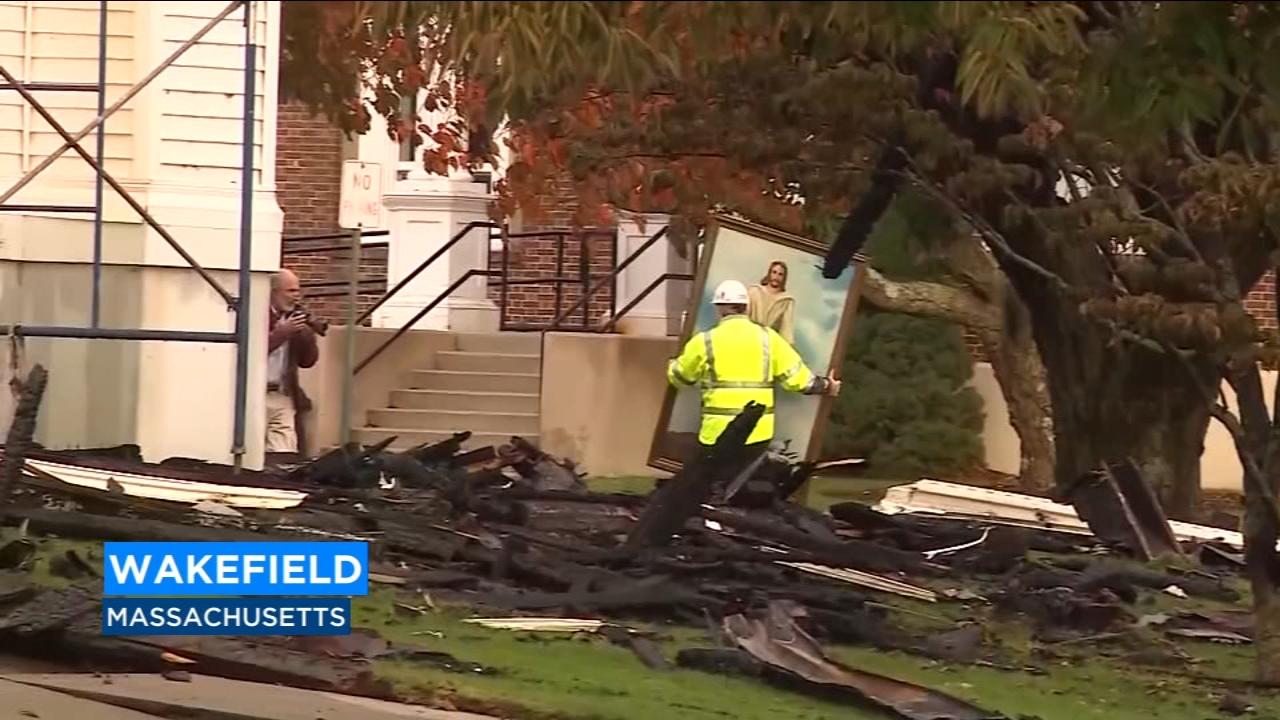 Painting of Jesus survives seven-alarm fire in Massachusetts