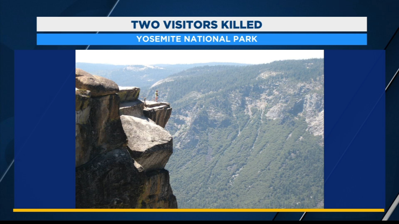 Yosemite Park Rangers recover two bodies from a fall at Taft Point