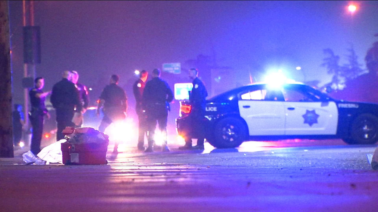 Police investigate a hit and run in Central Fresno