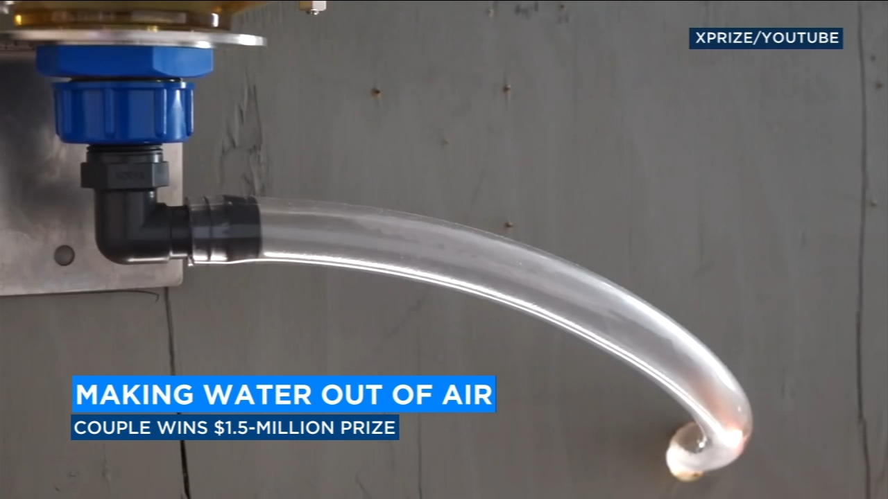 California couple receives prize for creating water out of air