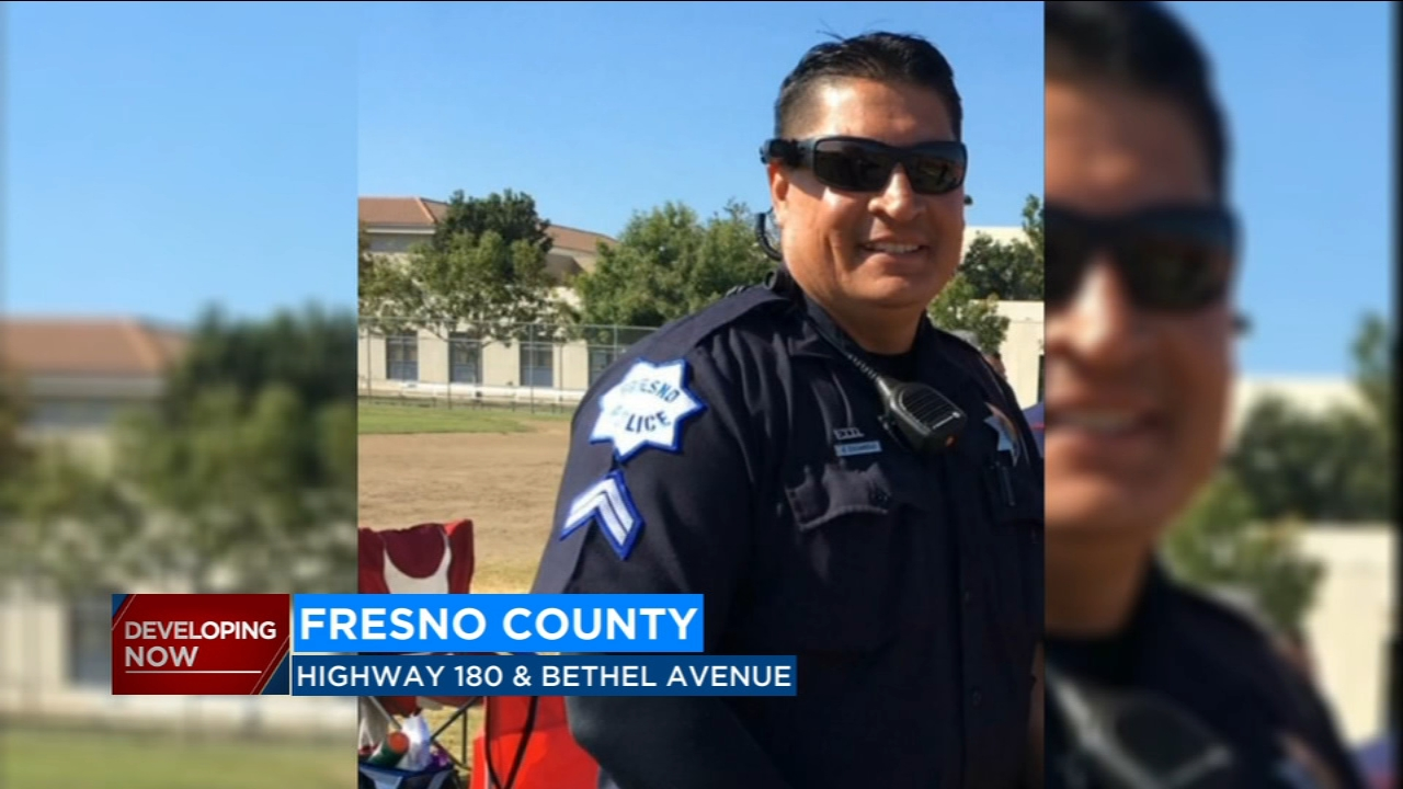 The 47-year-old whos been with the Fresno Police Department for 22 years was airlifted to Community Regional Medical Center.