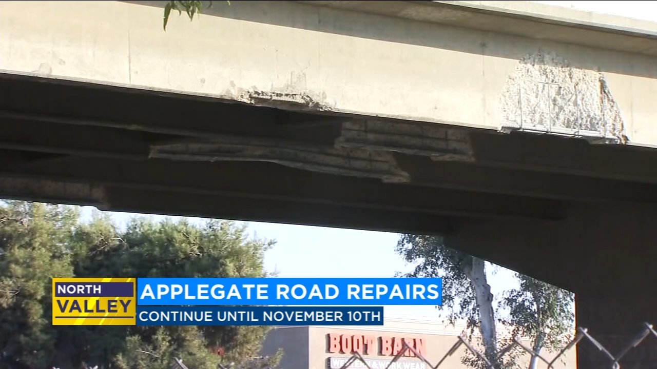 Crews to work on damaged Highway 99 overpass through Nov. 10