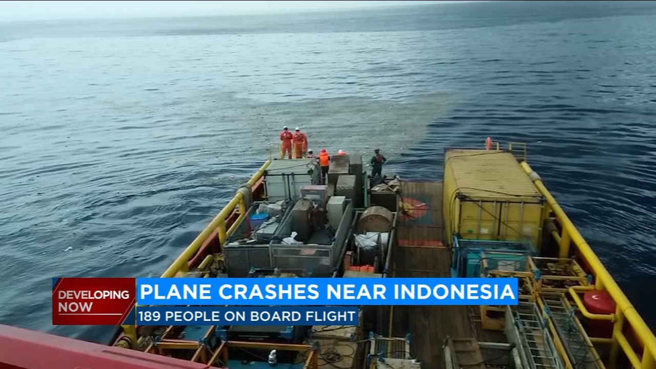 Indonesian Lion Air plane crashes minutes after takeoff, officials say survivors unlikely