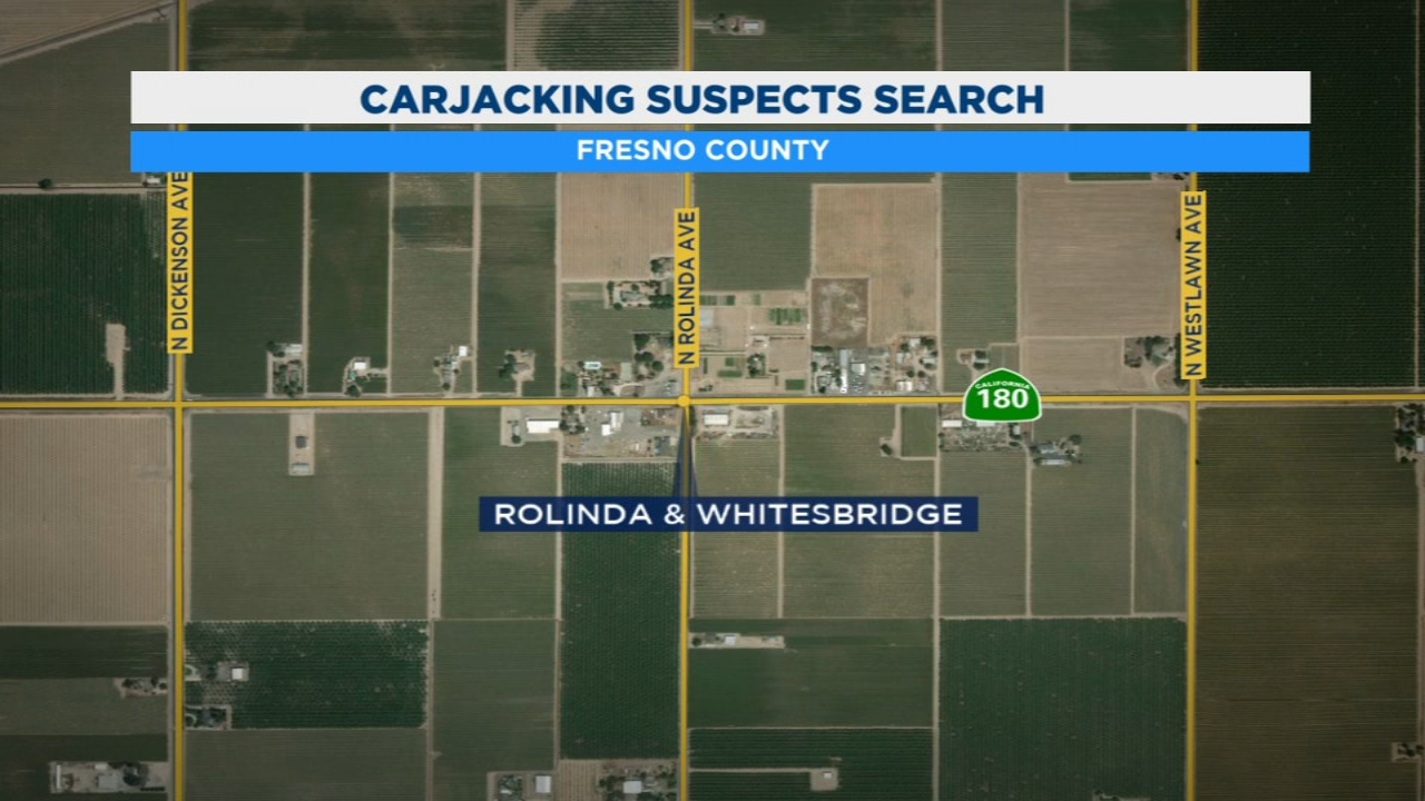 Fresno County Sheriff Deputies earch for two men accused of carjacking
