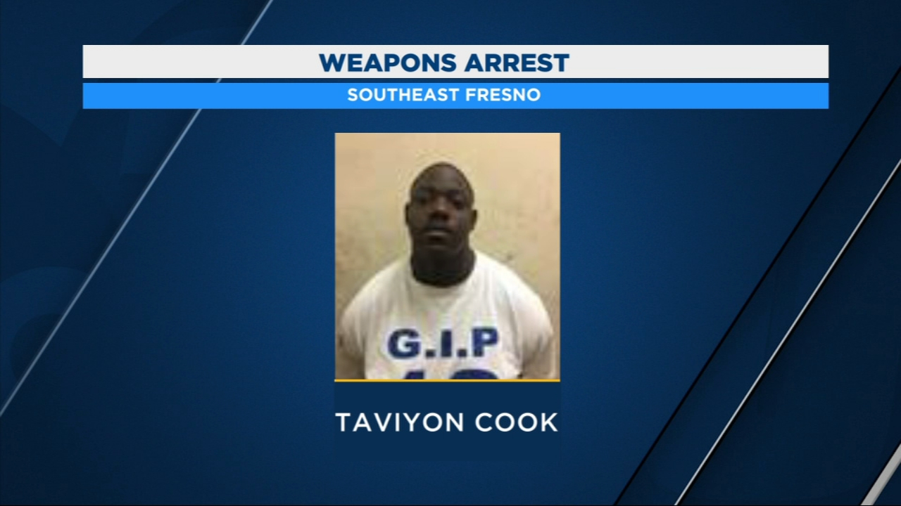 Four arrested in Southeast Fresno during weapons bust