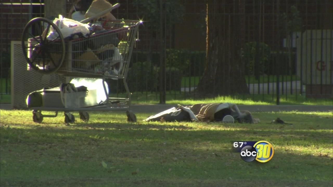 Clint Olivier calls on Fresno city hall to control vagrancy problem