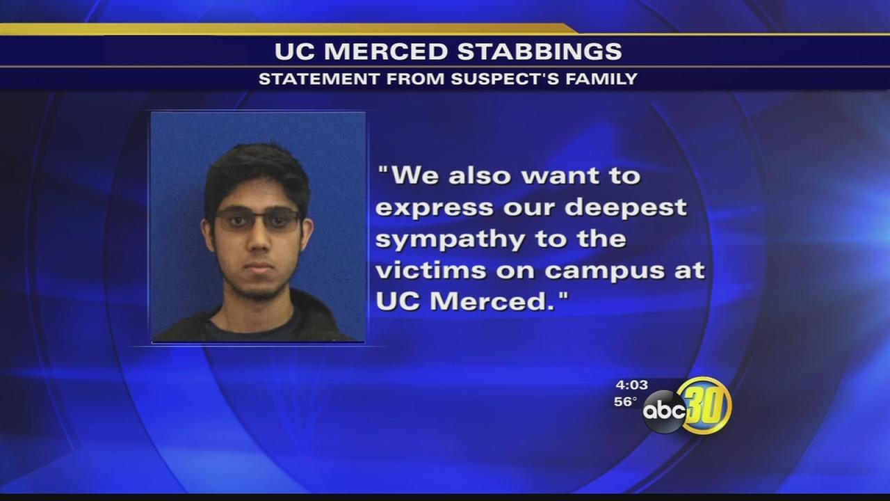 Family of UC Merced stabbing suspect releases statement