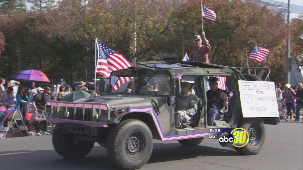 Fresno parade pays tribute to valley veterans