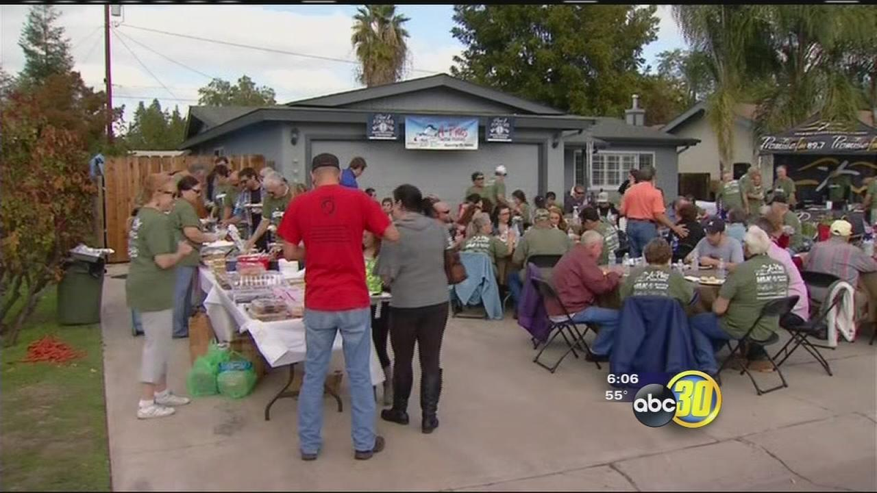 Visalia non-profit honors vet with home exterior makeover