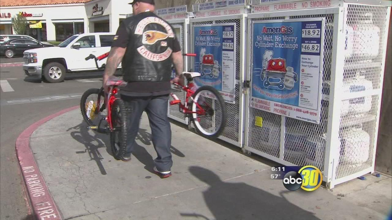 Hells Angels buying bikes for needy kids