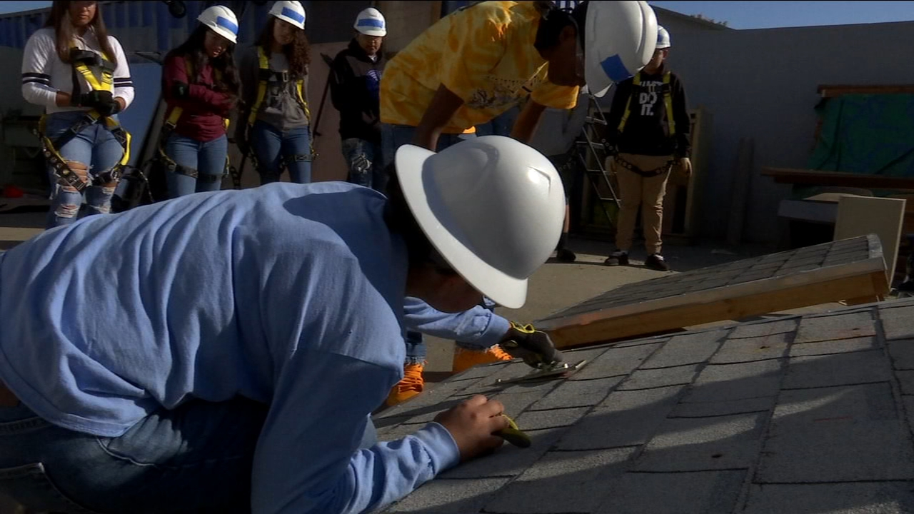 Monday morning Edison High School Juniors learned solar panel installation 101. By the end of their three-week training, 33 students will be certified in safety. Theyll also learn