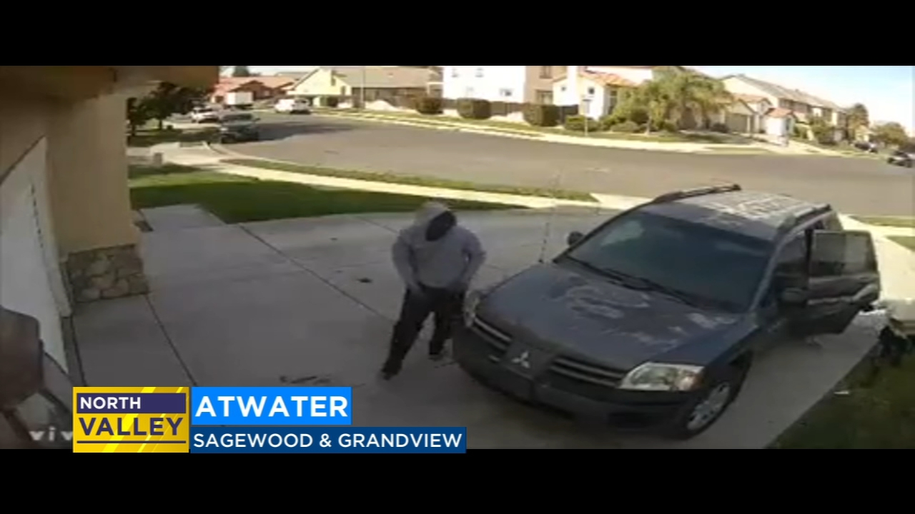 Surveillance footage shows man catching home invaders in Atwater