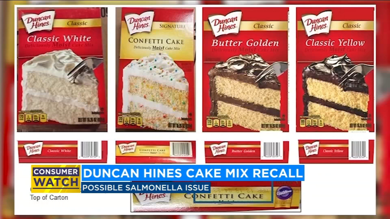 Check your pantries. Duncan Hines issues recall of four cake mixes