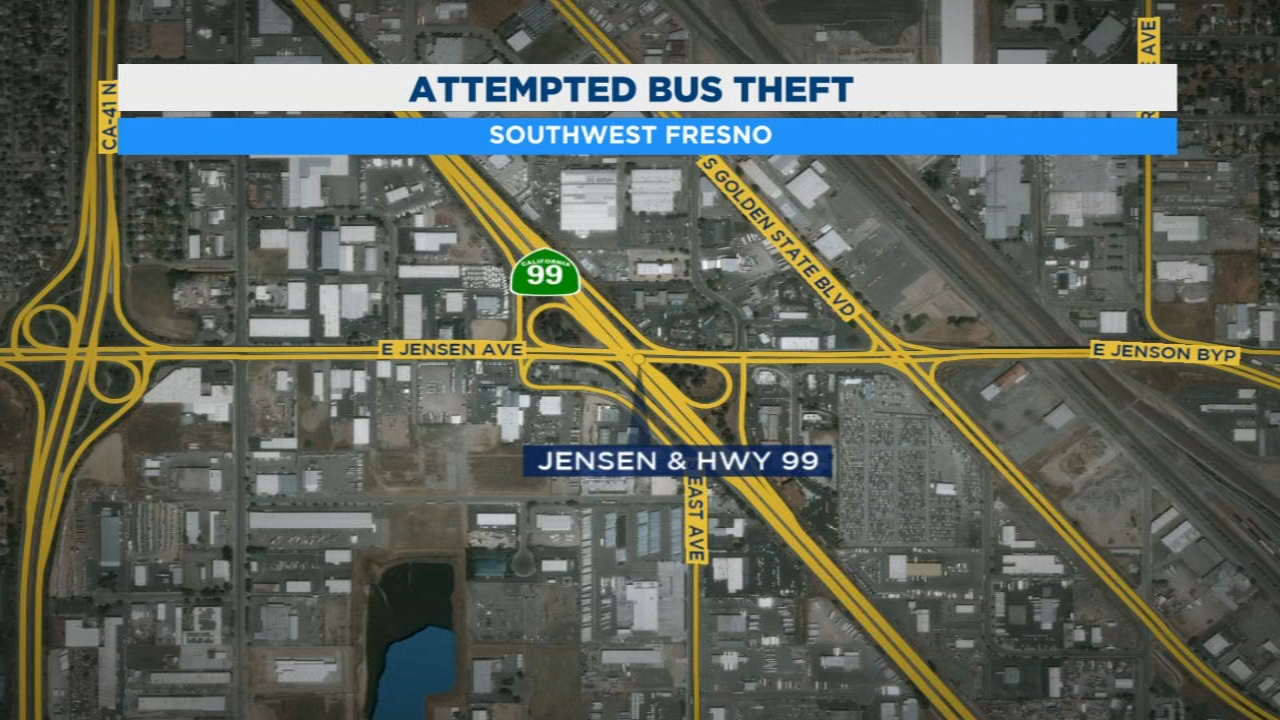 Homeless man tries to steal bus full of Kingsburg Elementary kids in Southwest Fresno.