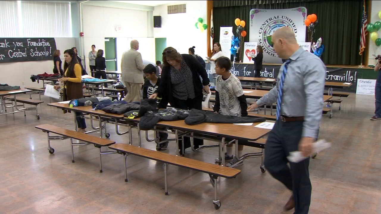 Hundreds of Central Unified students receive new coats to stay warm this winter.