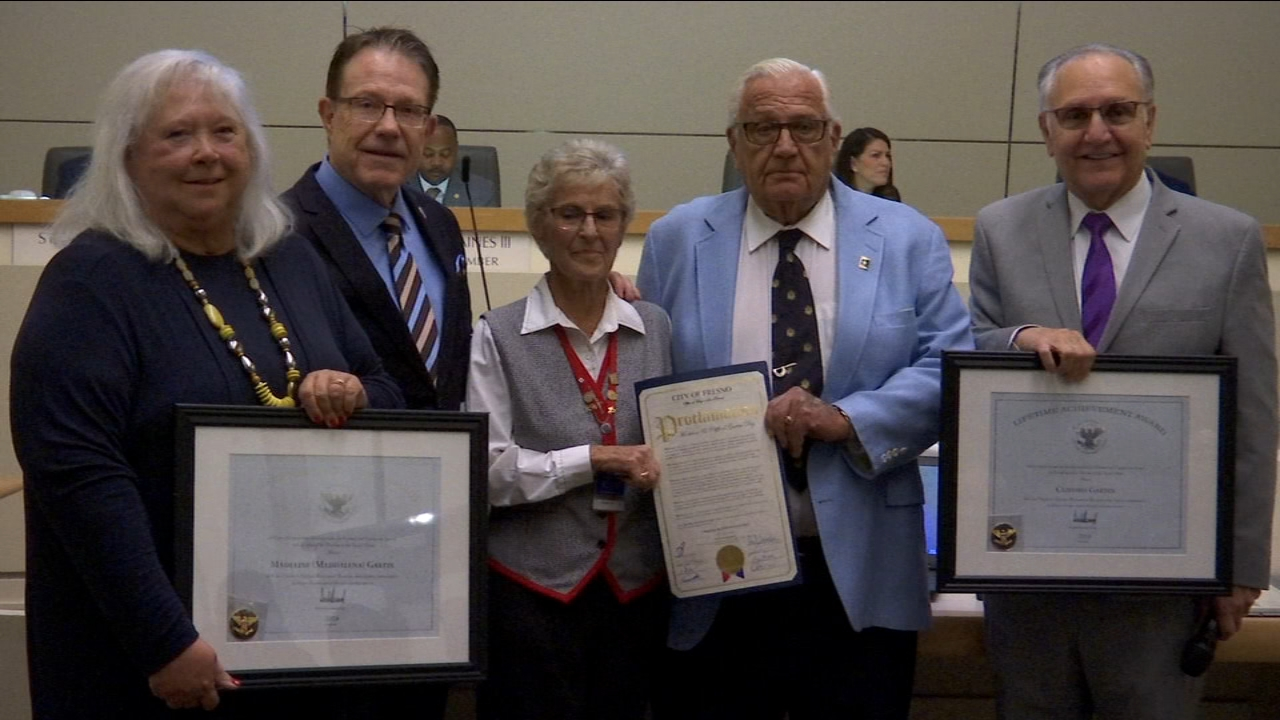 Retired couple recognized for volunteering more than 5,000 hours to City of Fresno