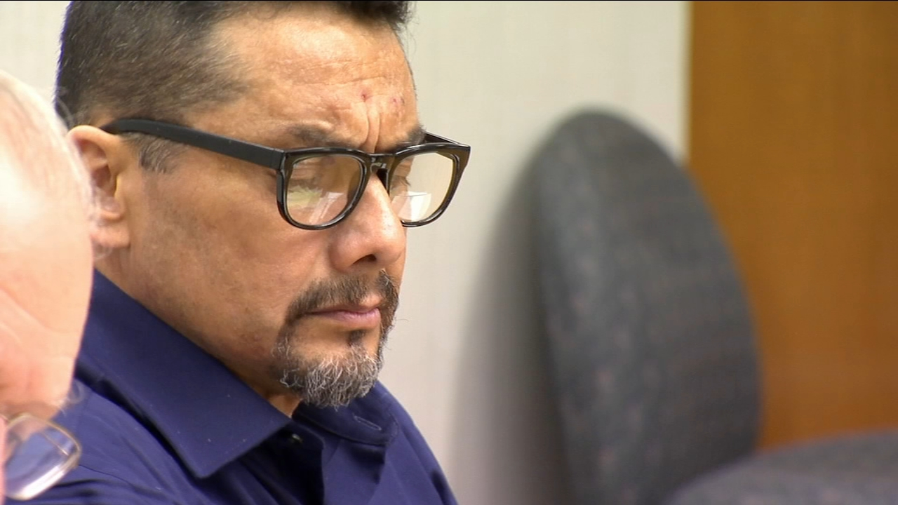 David Pena claims he found his wife with a knife in her back laying on the ground in their garage and claims she asked him to dispose of her body. The couple had separated ten days
