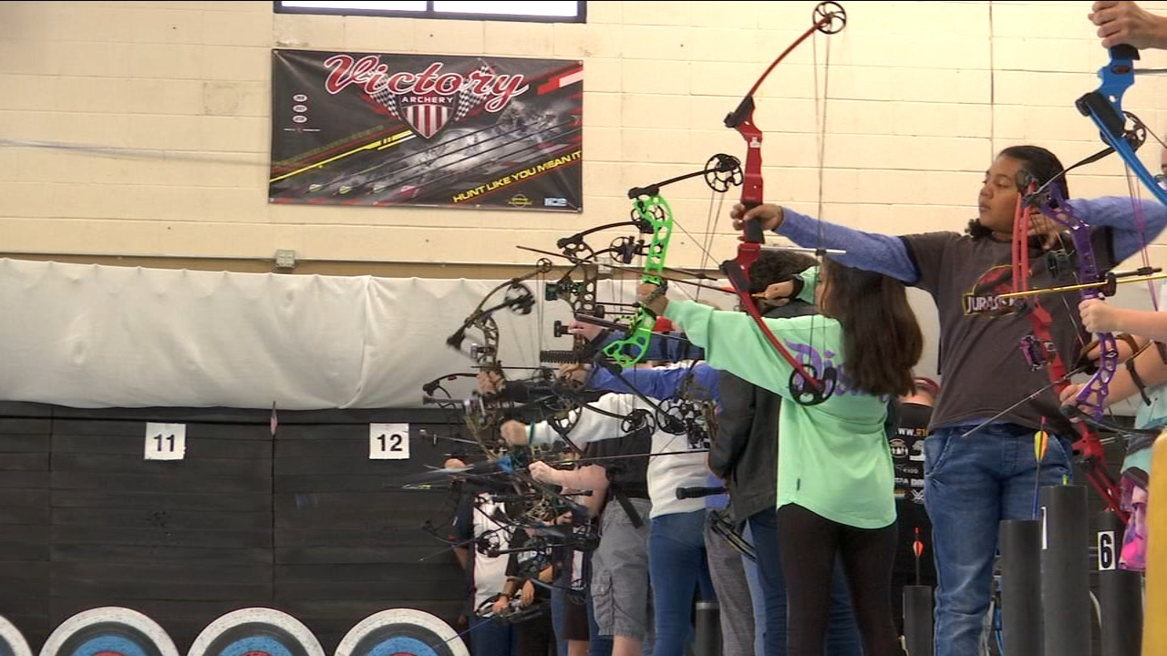 The veterans are part of a free archery program at Break the Barriers and they are competing in a special tournament.