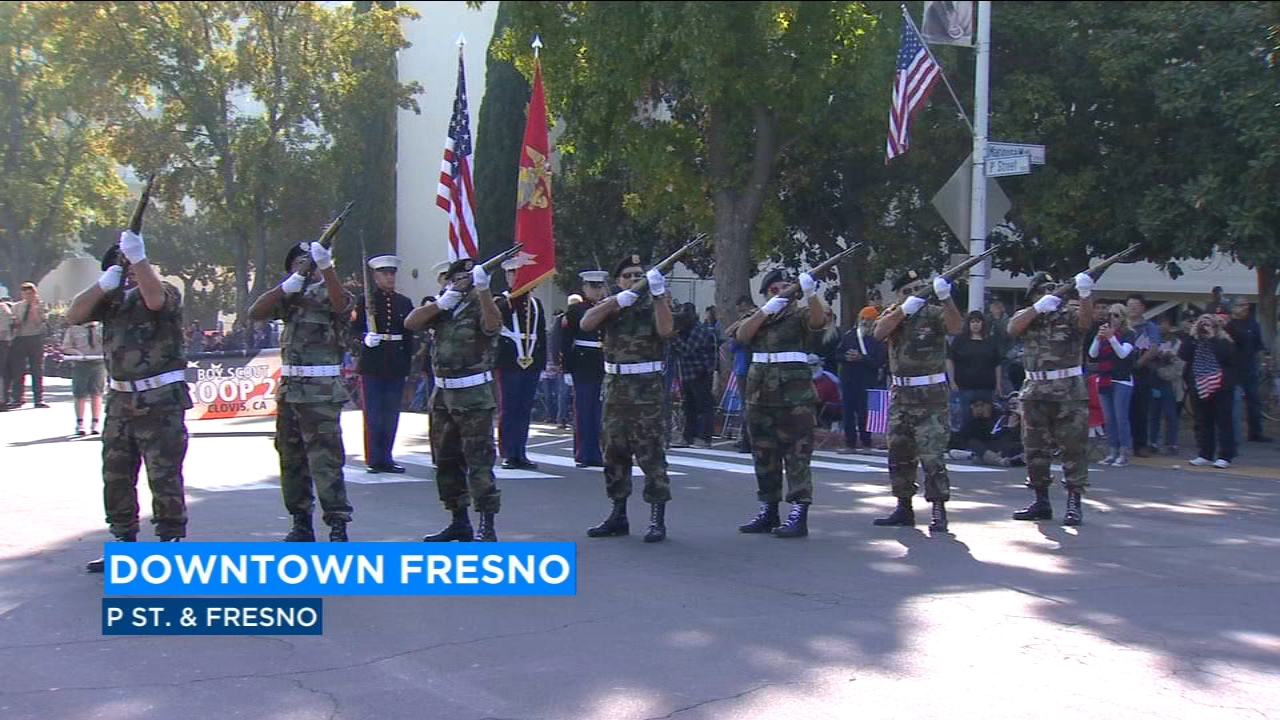 The countrys biggest Veterans Day parade took to the streets of downtown Fresno Monday morning. Central Valley veterans got a starring role in the 99th annual Fresno parade honori