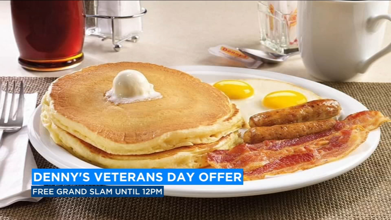 Denny's honors veterans with free grand slam
