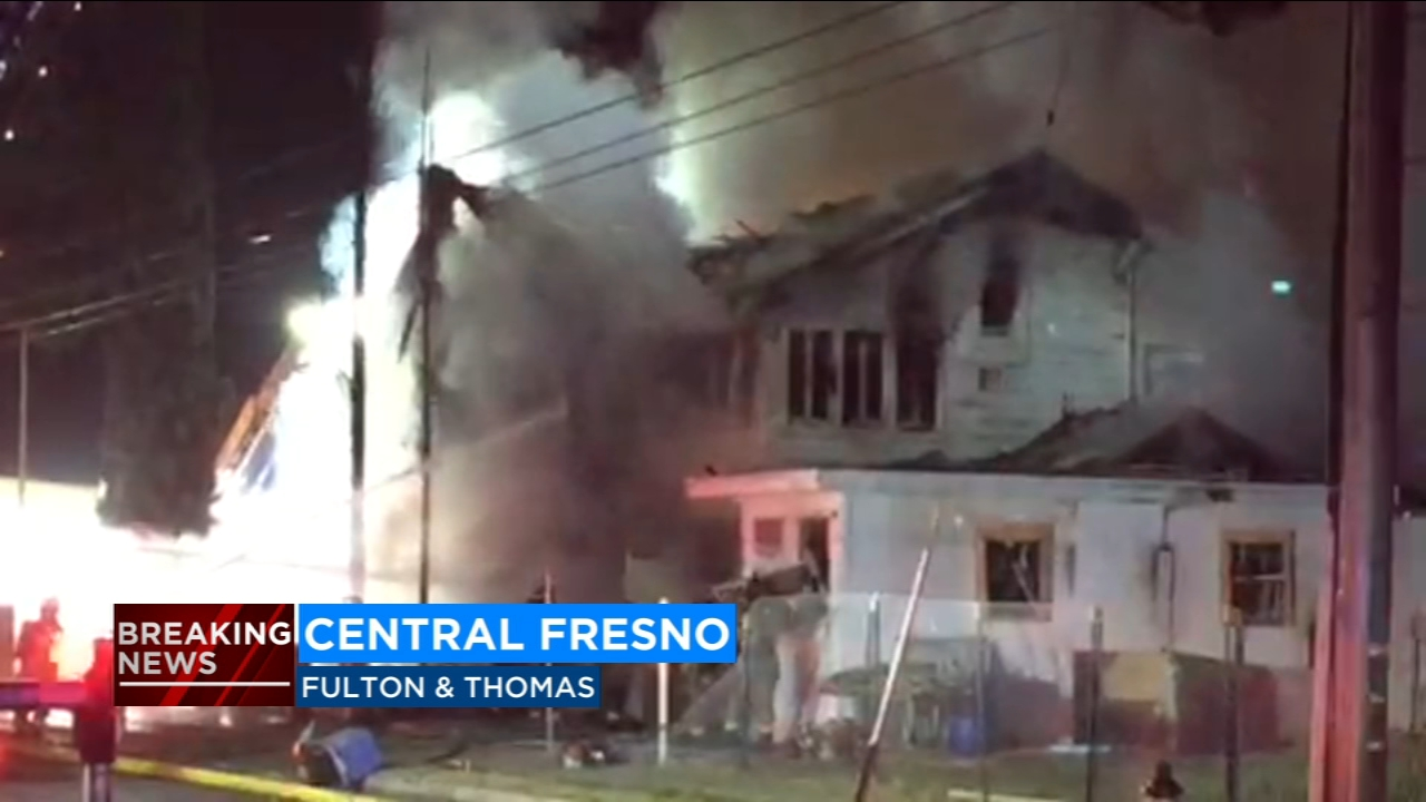 Two-story home goes up in flames near the Tower District