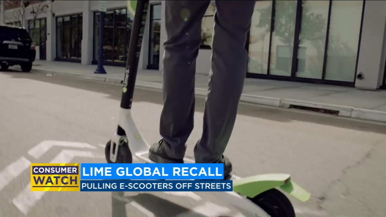 Electric scooter company Lime issues world-wide recall