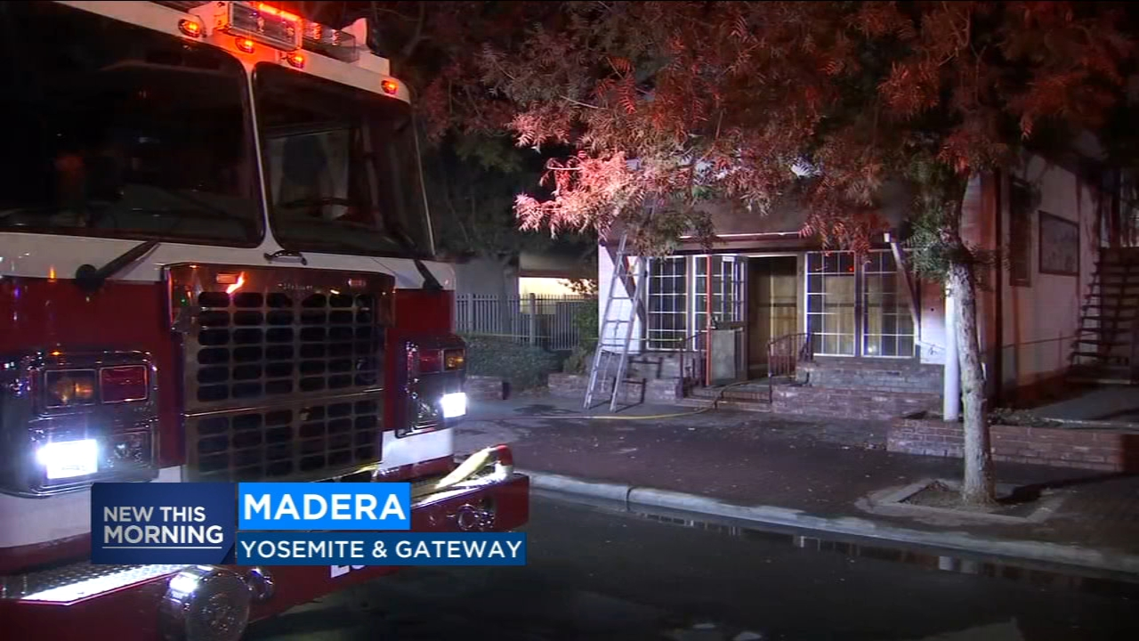 A pair of fires erupt two blocks from each other in Madera, fire crews investigating.