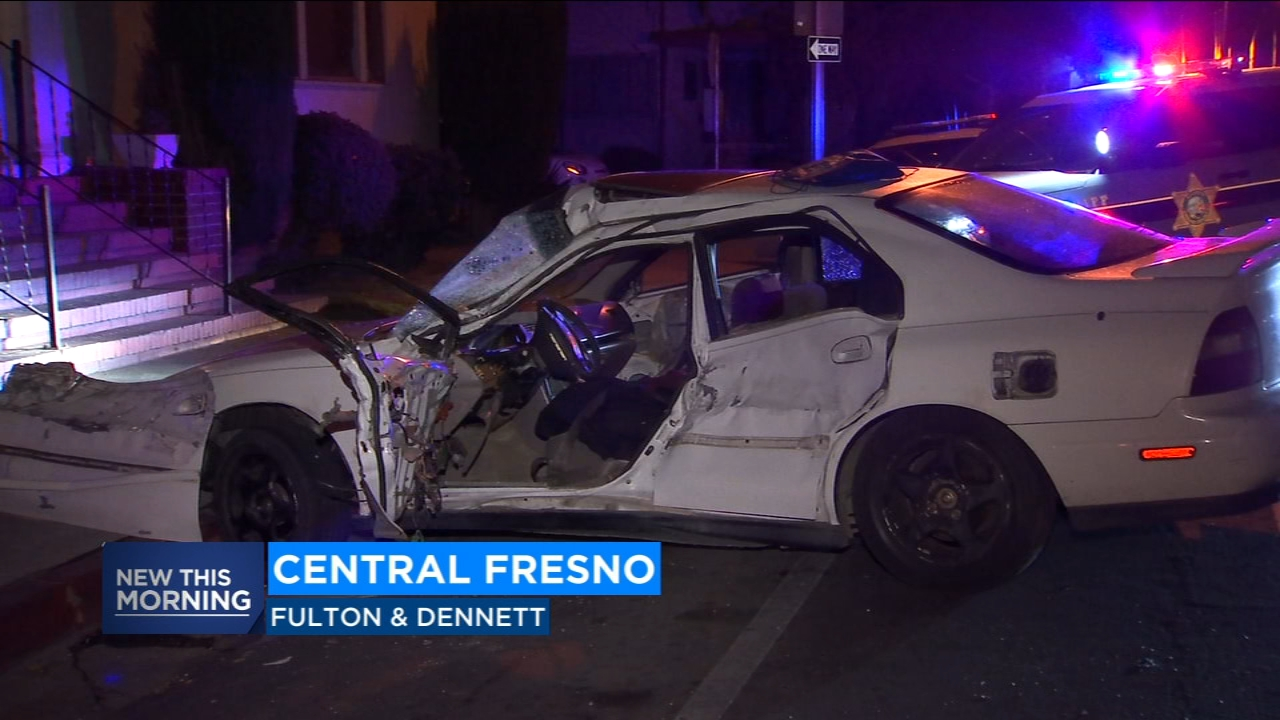 A driver is in custody after leading Fresno County Sheriffs deputies on a short chase on the streets of Fresno before ending in a crash.