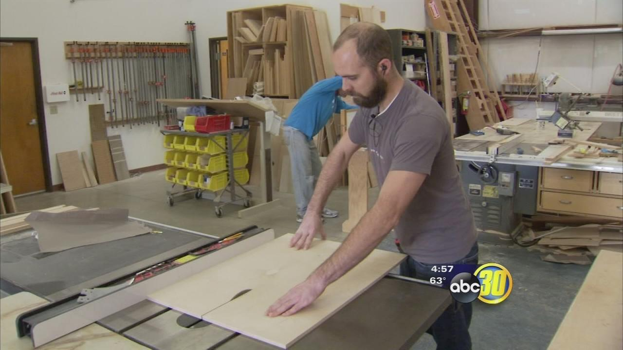 Local craftsman gives back to his former alma mater with his craft