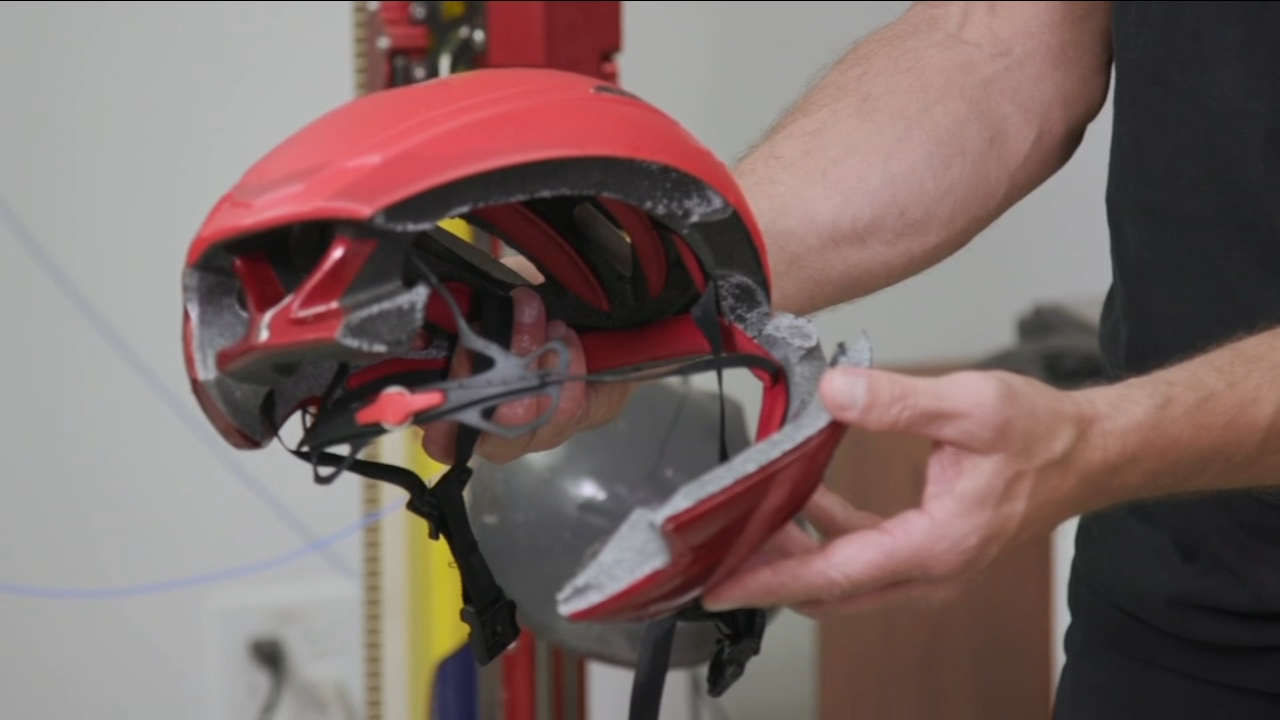 Government officials sounding the alarm about potentially dangerous counterfeit bike helmets