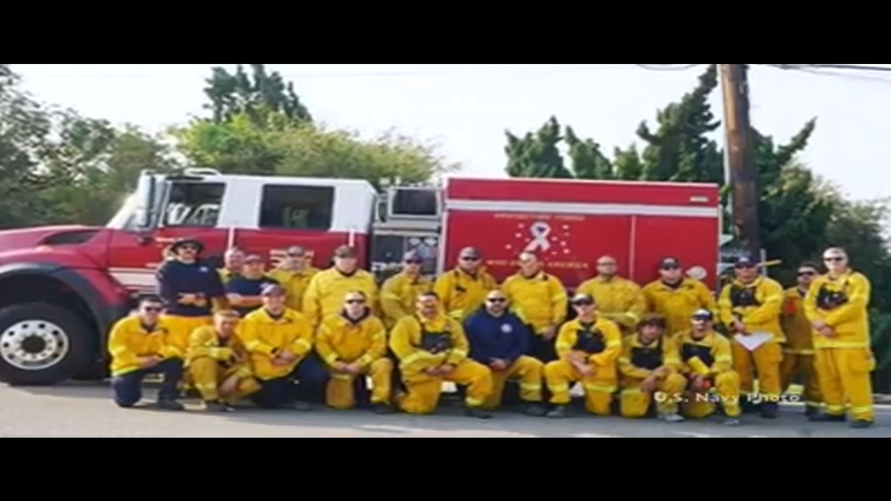 NAS Lemoore's Federal Fire Department helps fight against Woolsey Fire