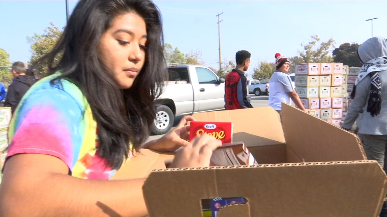 Edison High School students delivered the fruits of their hard work to families in need.