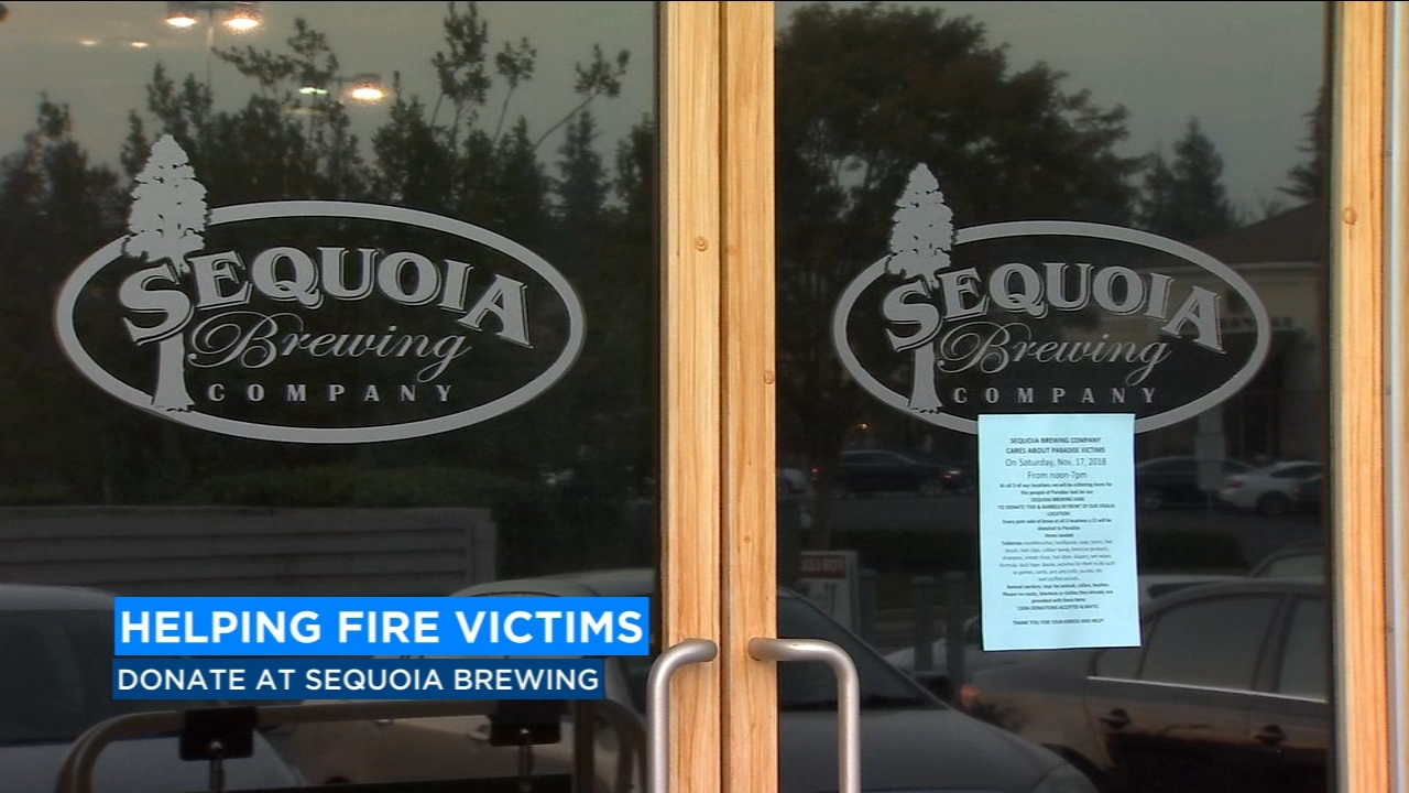 Sequoia Brewing Company had a very successful fundraiser for Paradise wildfire on Saturday at all three locations.