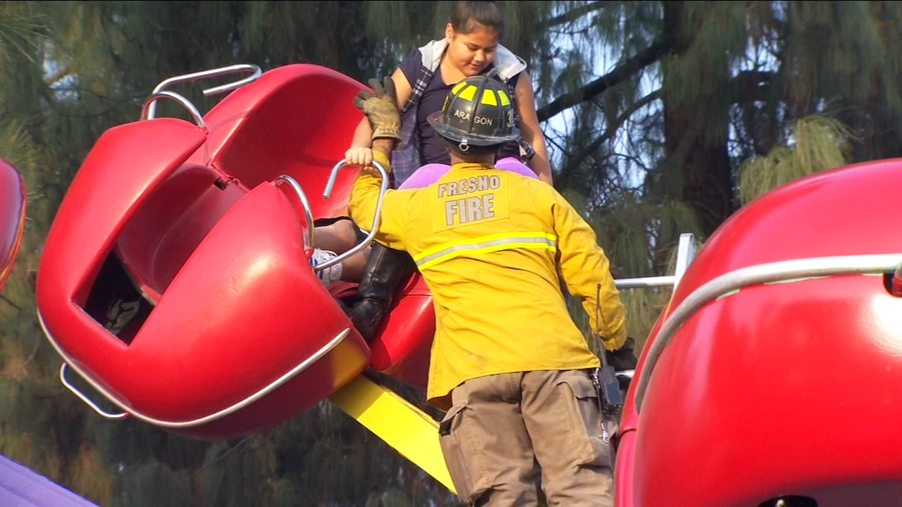 A scary moment for several children, who got stuck on a ride at Storyland in Central Fresno Saturday afternoon.