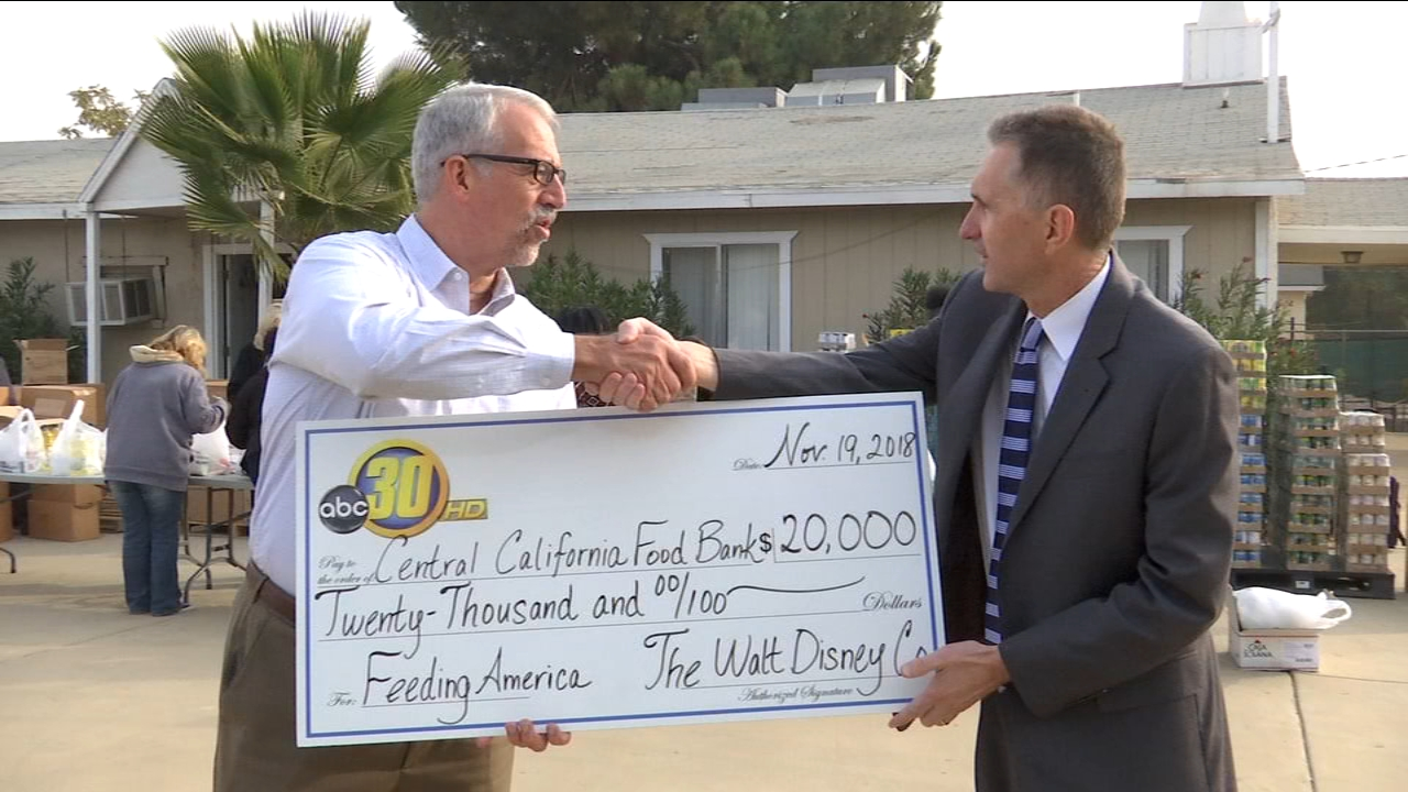 ABC30 and The Walt Disney Company give helping hand the Central California Food Bank