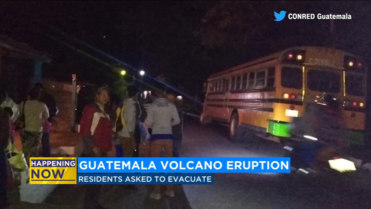 Communities flee eruption at Guatemalas Volcano of Fire