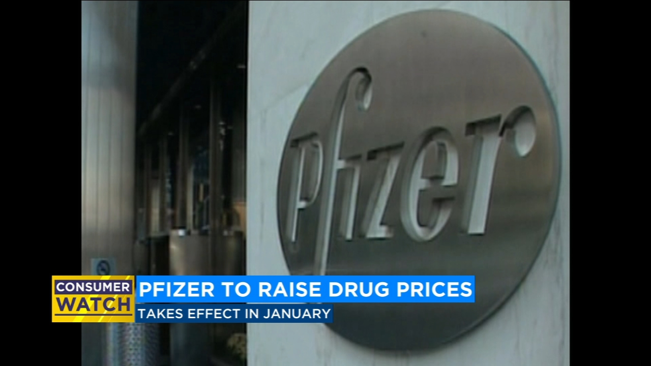 Pfizer to increase prices of 41 drugs starting in January