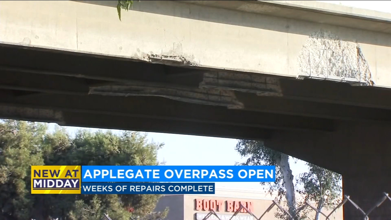 Applegate overpass reopens after weeks of repairs are completed.