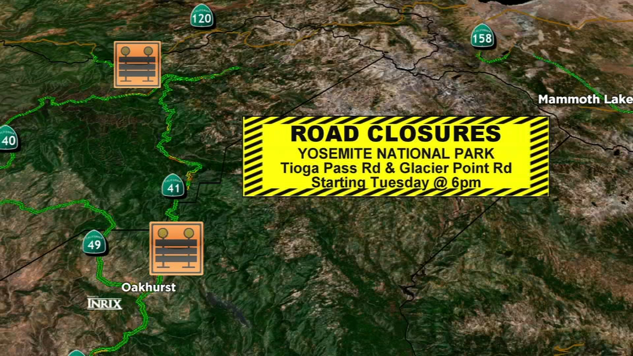Starting Tuesday night at 6pm, Tioga Pass and Glacier Point Roads will be closed to all traffic.