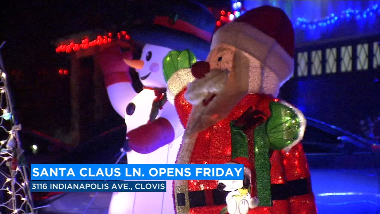 4th annual 'Santa Claus Lane' opens Friday in Clovis