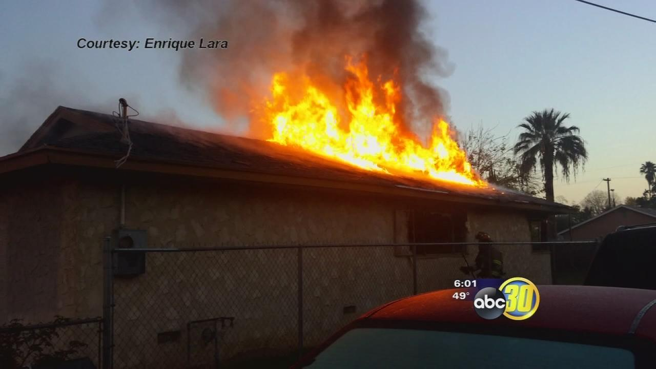 Five people dead in central Fresno house fire