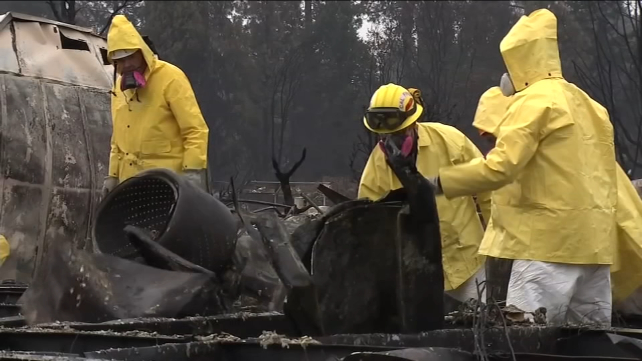 Away from home, Fresno firefighters spend Thanksgiving helping at Camp Fire site