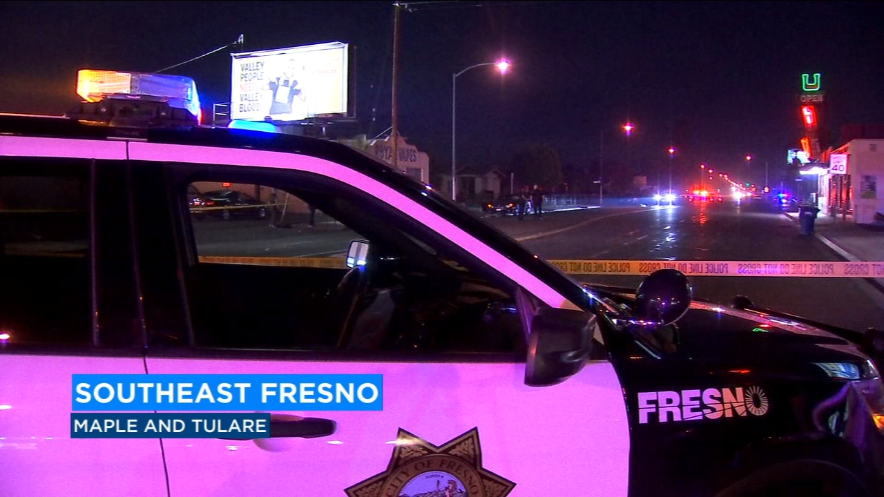A man was thrown off his bicycle and injured after he was hit by a car in southeast Fresno on Friday morning.