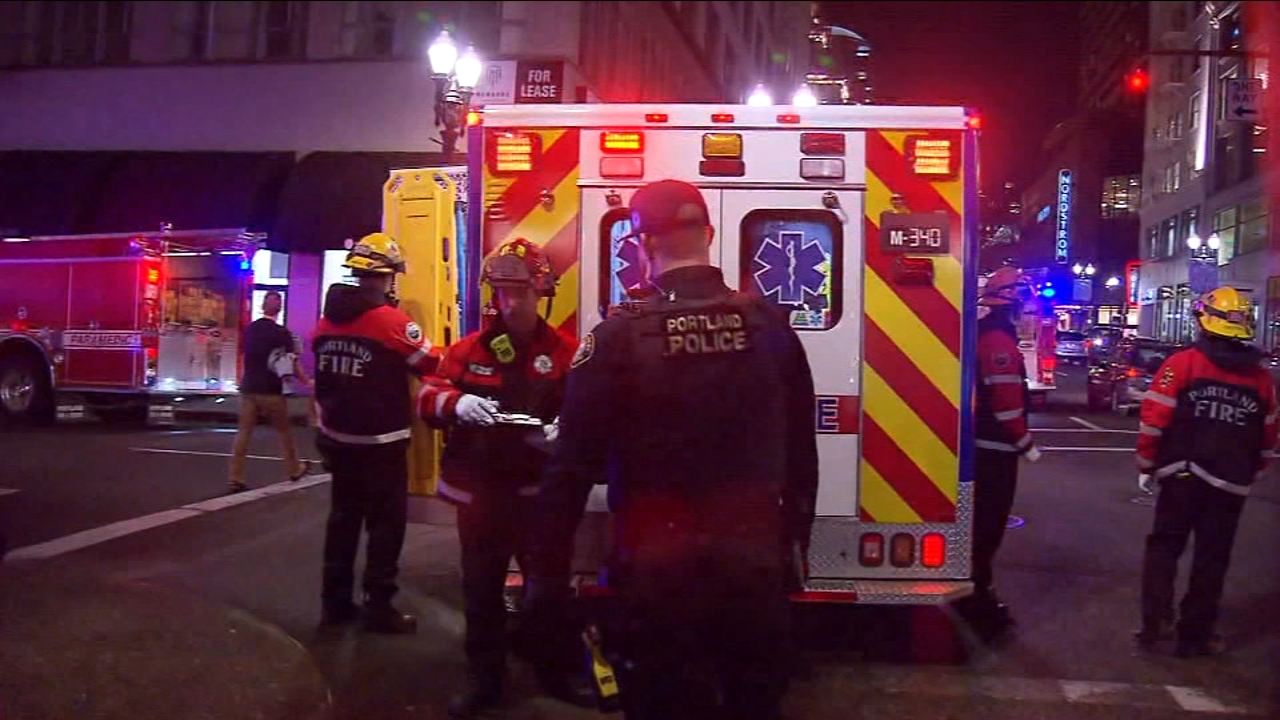 An Oregon man was rescued by the Portland Fire Department after spending at least an hour stuck in between two downtown buildings.