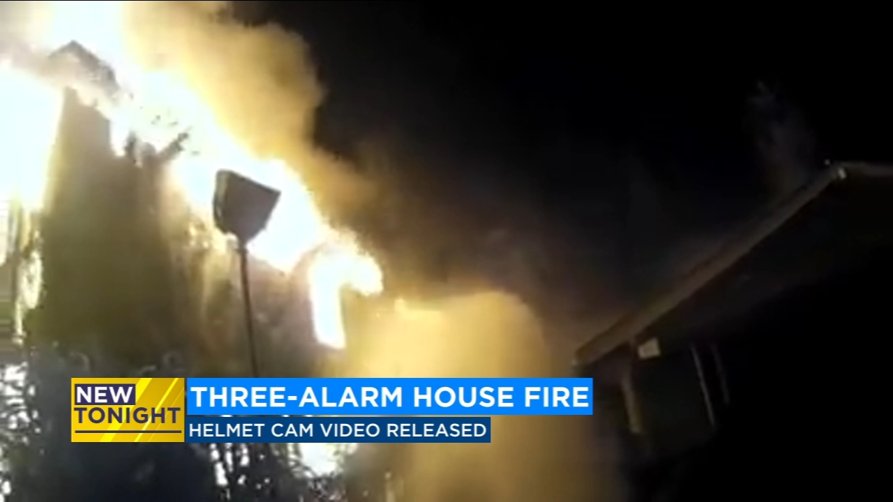 Helmet camera video is giving us a first look at the view of Fresno firefighters as they battled a three-alarm fire that destroyed a vacant home in Southeast Fresno.