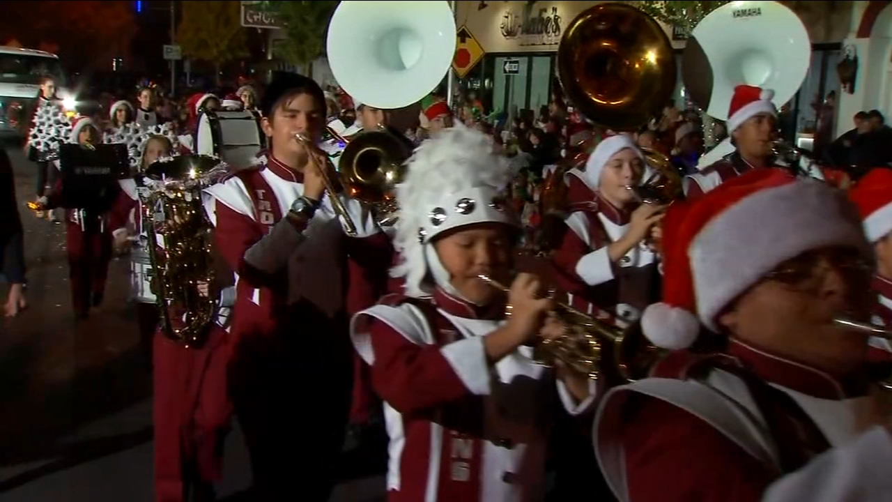 Thousands line Visalias Main Street for 73rd annual Candy Cane Lane Parade